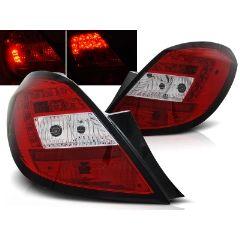 Focos / Pilotos traseros de LED Opel Corsa D 5d 04.06- Rojo/blanco Led