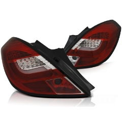 Focos / Pilotos traseros de LED Opel Corsa D 3d 04.06-14 Rojos White Led Bar
