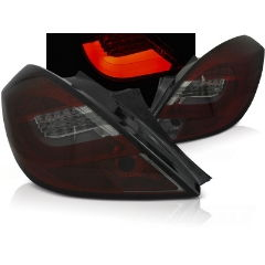 Focos / Pilotos traseros de LED Opel Corsa D 3ptas 04.06-14 Rojo Ahumado Led Bar