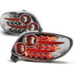 Focos / Pilotos traseros de LED Peugeot 206 10.98- Cromado Led