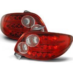 Focos / Pilotos traseros de LED Peugeot 206 10.98- Rojo/blanco Led