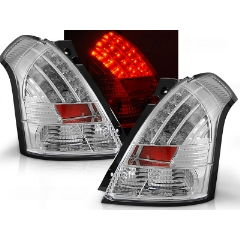 Focos / Pilotos traseros de LED Suzuki Swift 05.05-10 Cromado Led