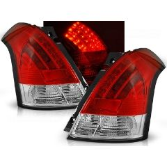 Focos / Pilotos traseros de LED Suzuki Swift 05.05-10 Rojo/blanco Led