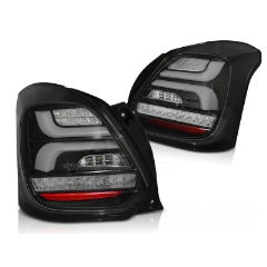 Focos / Pilotos traseros de LED Suzuki Swift Vi 17- Negros Led-intermitente Dinamico