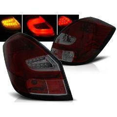 Focos / Pilotos traseros de LED Skoda Fabia Ii 07- 06.14 Rojo Ahumado Led Bar