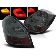 Focos / Pilotos traseros de LED Skoda Fabia Ii 07- 06.14 Ahumado Led Bar