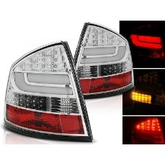 Focos / Pilotos traseros de LED Skoda Octavia Ii Sedan 03.04- Cromado Led Bar