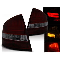 Focos / Pilotos traseros de LED Skoda Octavia Ii Sedan 03.04- Rojo Ahumado Led Bar
