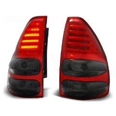 Focos / Pilotos traseros de LED Toyota Land Cruiser 120 03-09 Rojo Ahumado Led