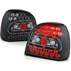 Focos / Pilotos traseros de LED VW Volkswagen Golf 3 09.91-08.97 Negro Led