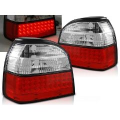 Focos / Pilotos traseros de LED VW Volkswagen Golf 3 09.91-08.97 Rojo/blanco Led