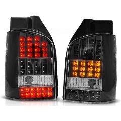 Focos / Pilotos traseros de LED VW Volkswagen T5 04.03-09 Negro Led