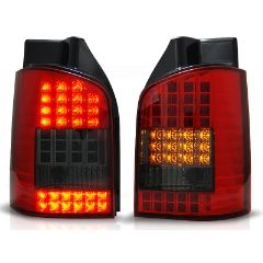 Focos / Pilotos traseros de LED VW Volkswagen T5 04.03-09 Rojo Ahumado Led