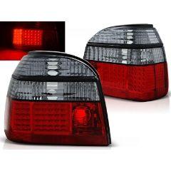 Focos / Pilotos traseros de LED VW Volkswagen Golf 3 09.91-08.97 Rojo Ahumado Led