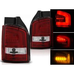 Focos / Pilotos traseros de LED VW Volkswagen T5 04.03-09 Rojo/blanco Led Bar