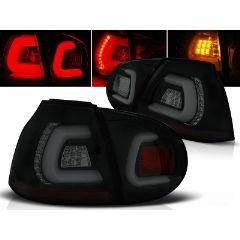 Focos / Pilotos traseros de LED VW Volkswagen Golf 5 10.03-09 Negro Ahumado Led Bar