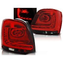 Focos / Pilotos traseros de LED VW Volkswagen Polo 09-13 Rojo Ahumado Led