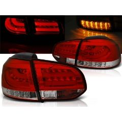 Focos / Pilotos traseros de LED VW Volkswagen Golf 6 10.08-12 Rojo/blanco Led Bar