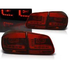 Focos / Pilotos traseros de LED VW Volkswagen Tiguan 07.11-12.15 Rojo Ahumado Led