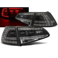 Focos / Pilotos traseros de LED VW Volkswagen Golf 7 13- Negro Led GTI Look