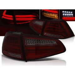 Focos / Pilotos traseros de LED VW Volkswagen Golf 7 13- Rojo Ahumado Led Bar