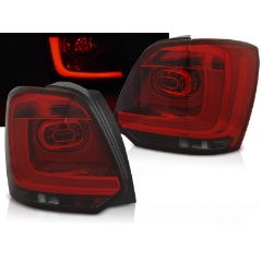 Focos / Pilotos traseros de LED VW Volkswagen Polo 09-13 Rojo Ahumado Led Bar