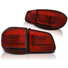 Focos / Pilotos traseros de LED VW Volkswagen Tiguan 07-07.11 Rojos ahumados Led Bar