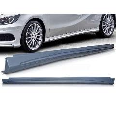 Taloneras laterales deportivas Mercedes W176 07.12- / CLA W117 01.13- AMG Look
