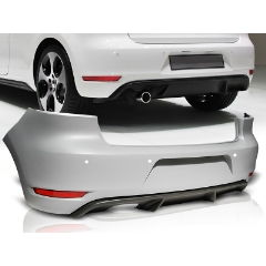 Parachoques trasero deportivo Volkswagen VW GOLF 6 GTI Look SINGLE PDC