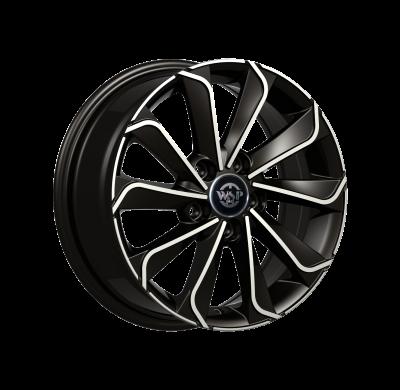 Llantas replica WSP Italy Nissan R6,5X16 WD003 CORINTO ET45 5x114.3 66.1 GlossyBlackPol &m