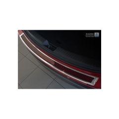 Protector Parachoques en Acero Inoxidable Mazda Cx-5 2014- Cromado/Look Fibra Carbono Rojo-negro
