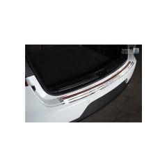 Protector Parachoques en Acero Inoxidable Porsche Macan 2014- Cromado/Look Fibra Carbono Rojo-negro