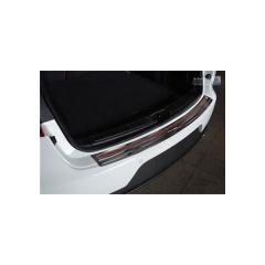 Protector Parachoques en Acero Inoxidable Porsche Macan 2014- Negro/Look Fibra Carbono Rojo-negro