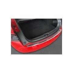 Protector Parachoques en Acero Inoxidable Tesla Model S 2012- Negro/Look Fibra Carbono Rojo-negro