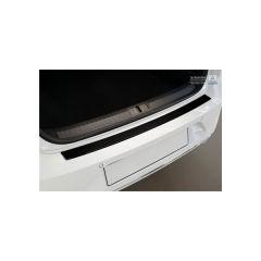 Protector Parachoques en Acero Inoxidable Volkswagen VW Passat 3g Sedan 2014- Look Fibra Carbono Negro