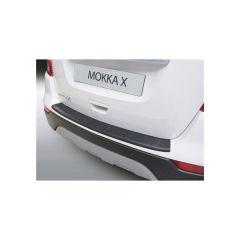 Protector Parachoques en Plastico ABS Opel Mokka X 10.2016- Con Canal Negro