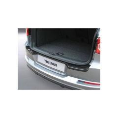 Protector Parachoques en Plastico ABS Volkswagen VW Tiguan 4x4 11.2007-3.2016 (con Gancho De Remolque De Origen) Negro